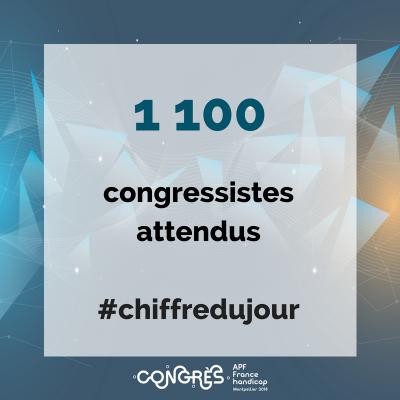 1100 congressistes attendus - Chiffre du jour